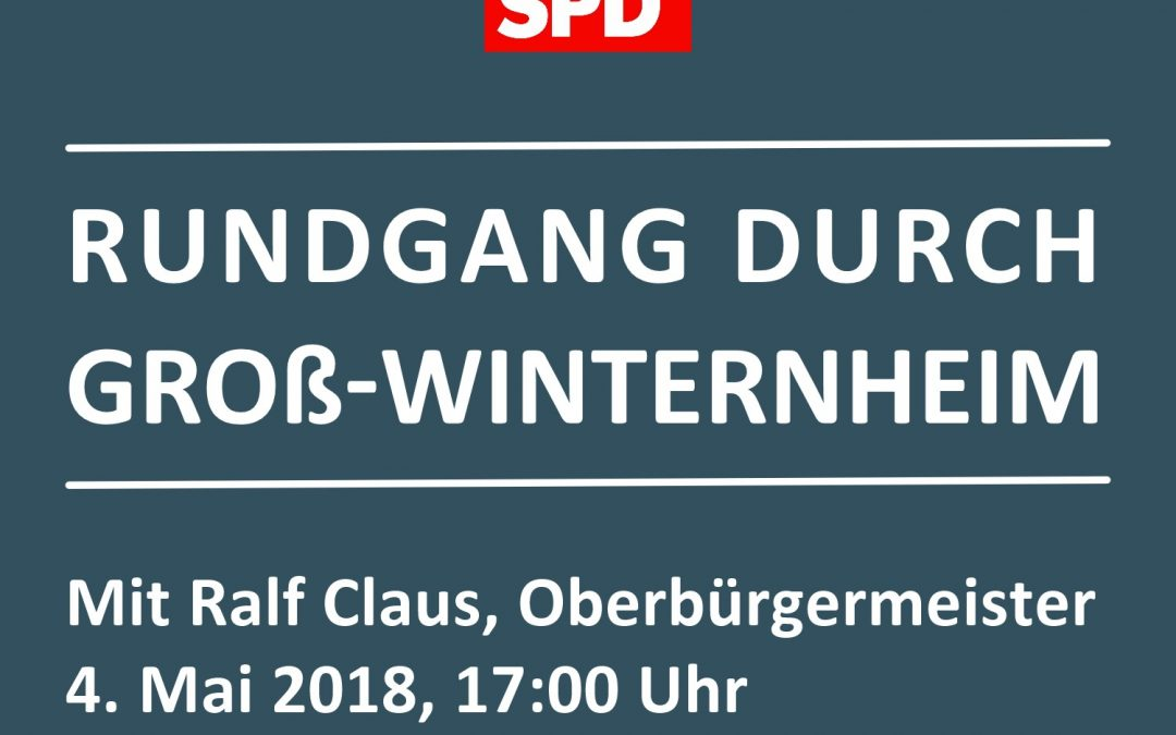 SPD-Rundgang durch Groß-Winternheim