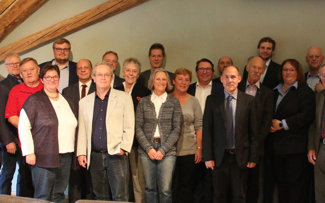SPD Ingelheim feiert Mitgliederehrung mit Rudolf Scharping